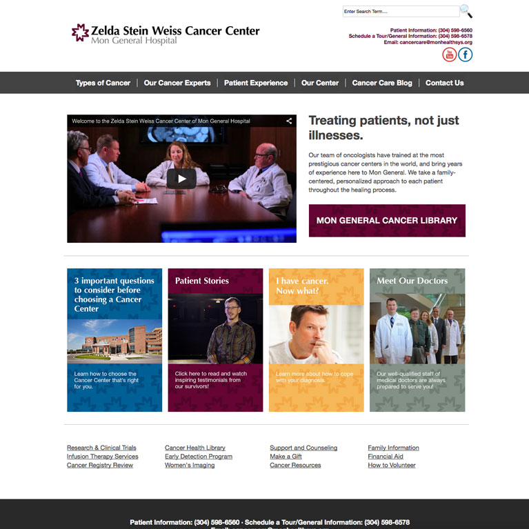 zelda stein weiss cancer center mon general hospital featured work