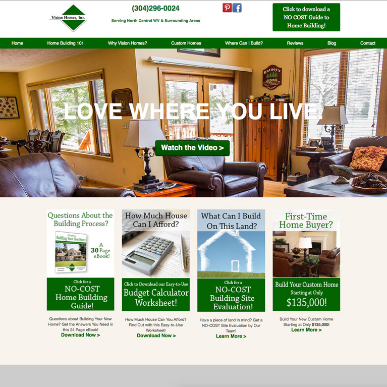 vision homes featured work