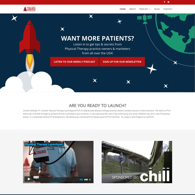 Physical Therapy Launch Pad Featured Web Work
