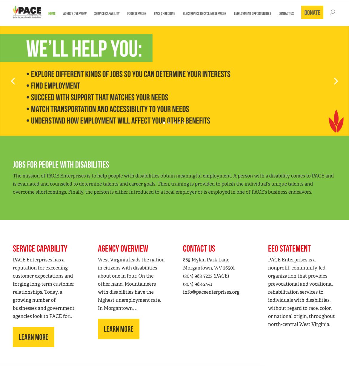 Pace Enterprises Featured Web Work