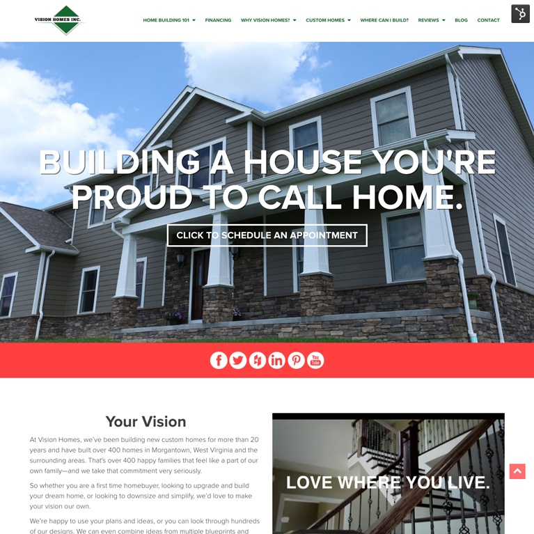 vision homes featured inbound work
