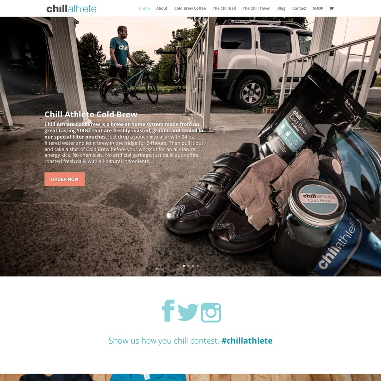 Chill Athlete Featured Web Work