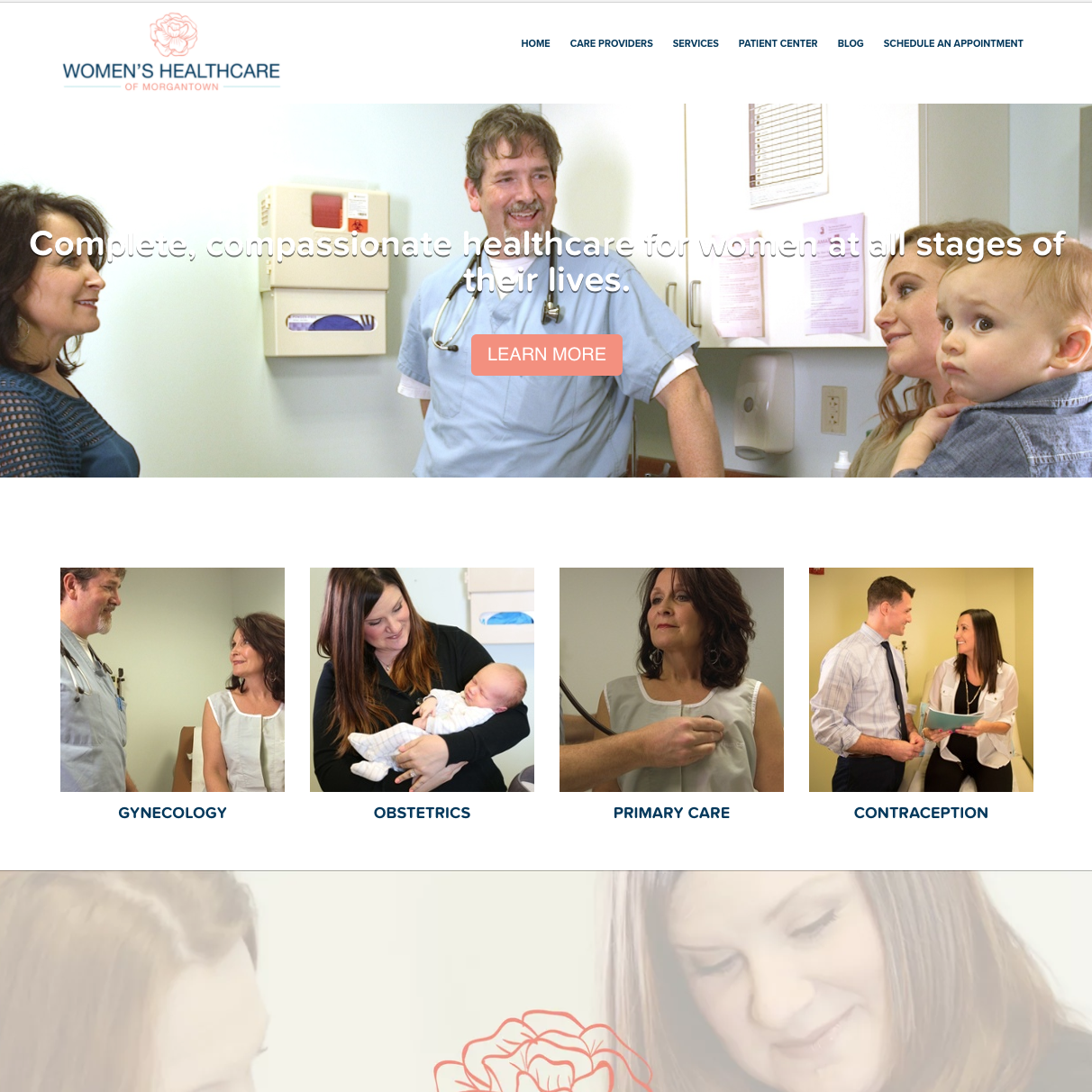 Women's Healthcare of Morgantown Website Redesign