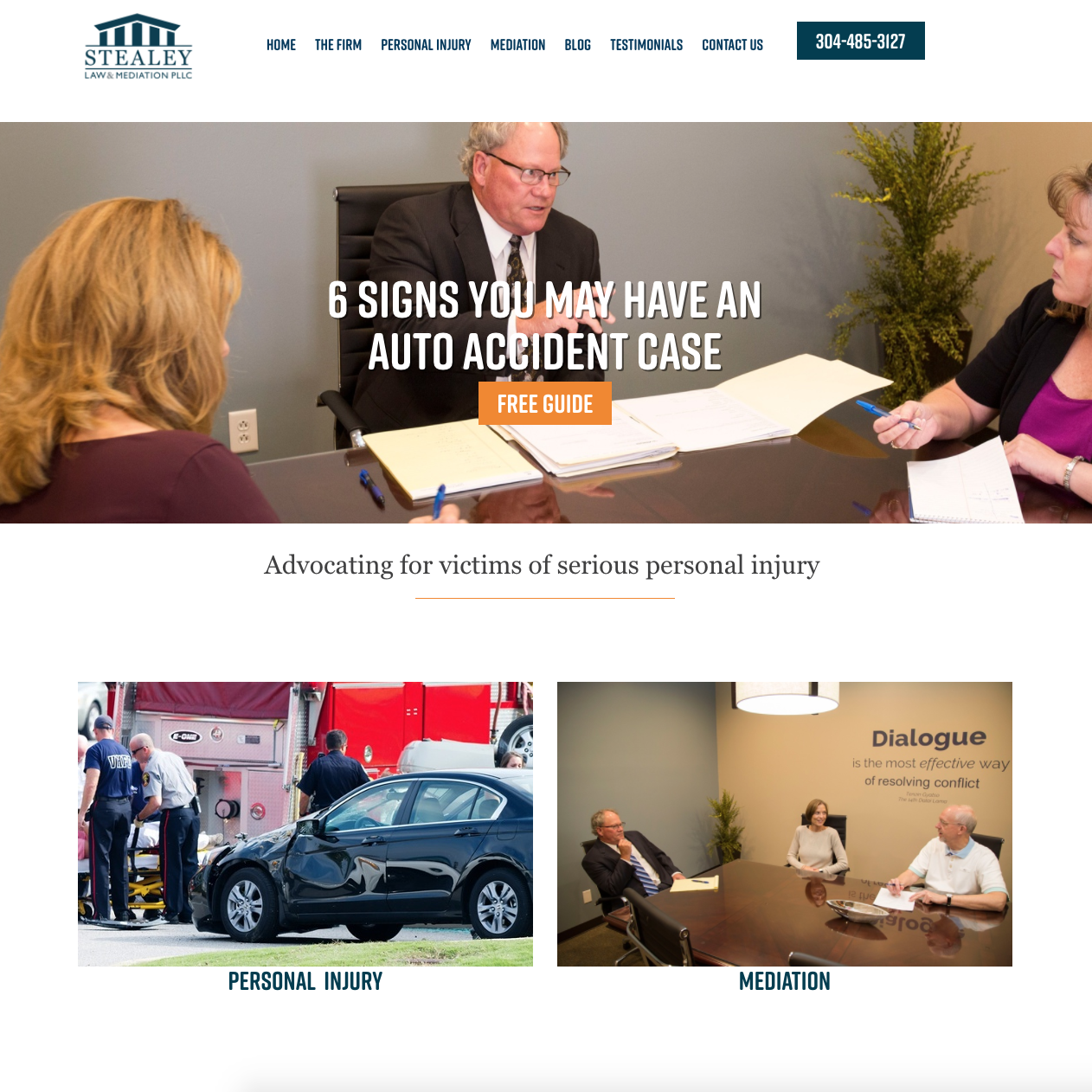 Stealey Law & Mediation Website Redesign