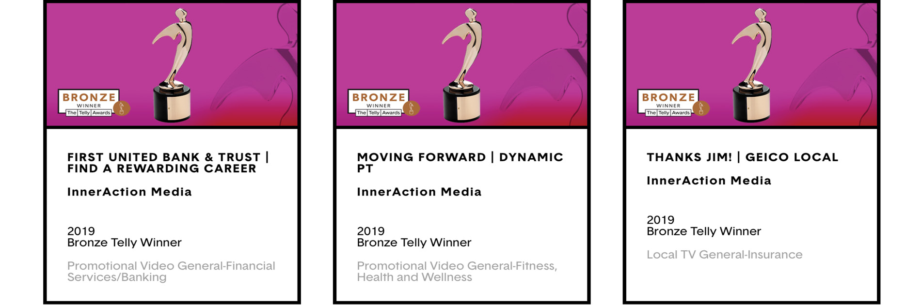 InnerAction Media Wins Three National Telly Awards